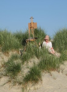 Easel in the dunes