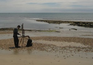Painting_at_Lyme_Regis