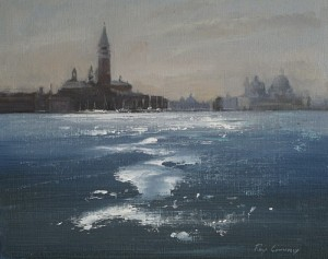 San Giorgio Sparkle - Venice painting by Roy Connelly
