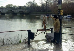 Ken Howard painting at Richmond