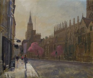 Oil painting of Oxford