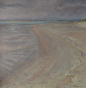 Oil painting of West Wittering by Roy Connelly
