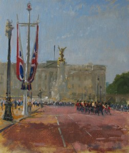 Buckingham Palace, Oil painting by Roy Connelly