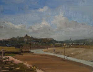 Rye Harbour, oil painting by Roy Connelly