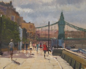 Oil painting of Hammersmith by Roy Connelly