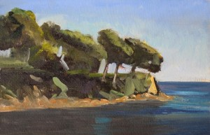 painting of Saint Jean Cap Ferrat, France by oil painter Roy Connelly