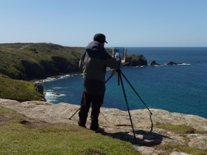 Roy Connelly painting Lands End Cornwall