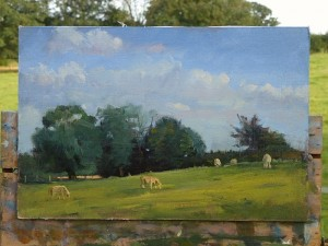 Suffolk cow painting