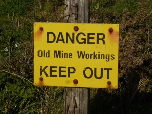 danger old mine workings