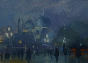 Molo Nocturne, Painting of Venice by Roy Connelly