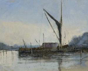 Pin Mill oil painting by Roy Connelly